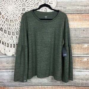 Ana | Bell Sleeve Boho Brushed Fleece Top